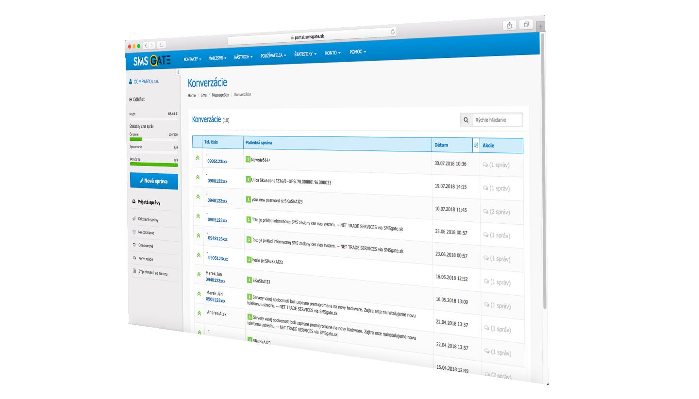 WEB modul SMS gate